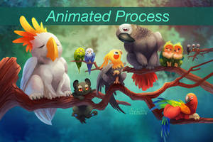 Griffins of a Feather - Animated Process by TsaoShin