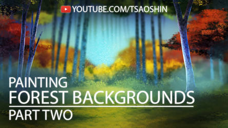 How to Digitally Paint a Forest Background Pt 2