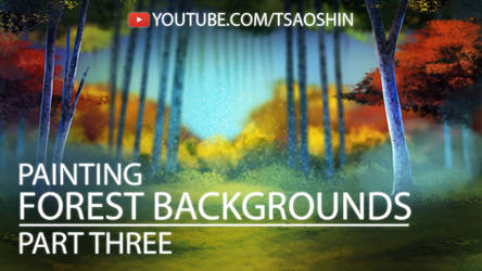 How to Digitally Paint a Forest Background Pt 3
