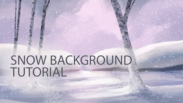 How to Paint a Snow Background in Photoshop