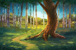 Forest Background - Free PSD