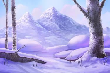 Snowy Background - Free PSD