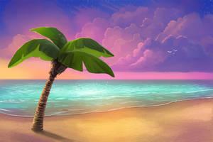 Beach Background - Free PSD