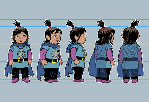 Character turn-around process