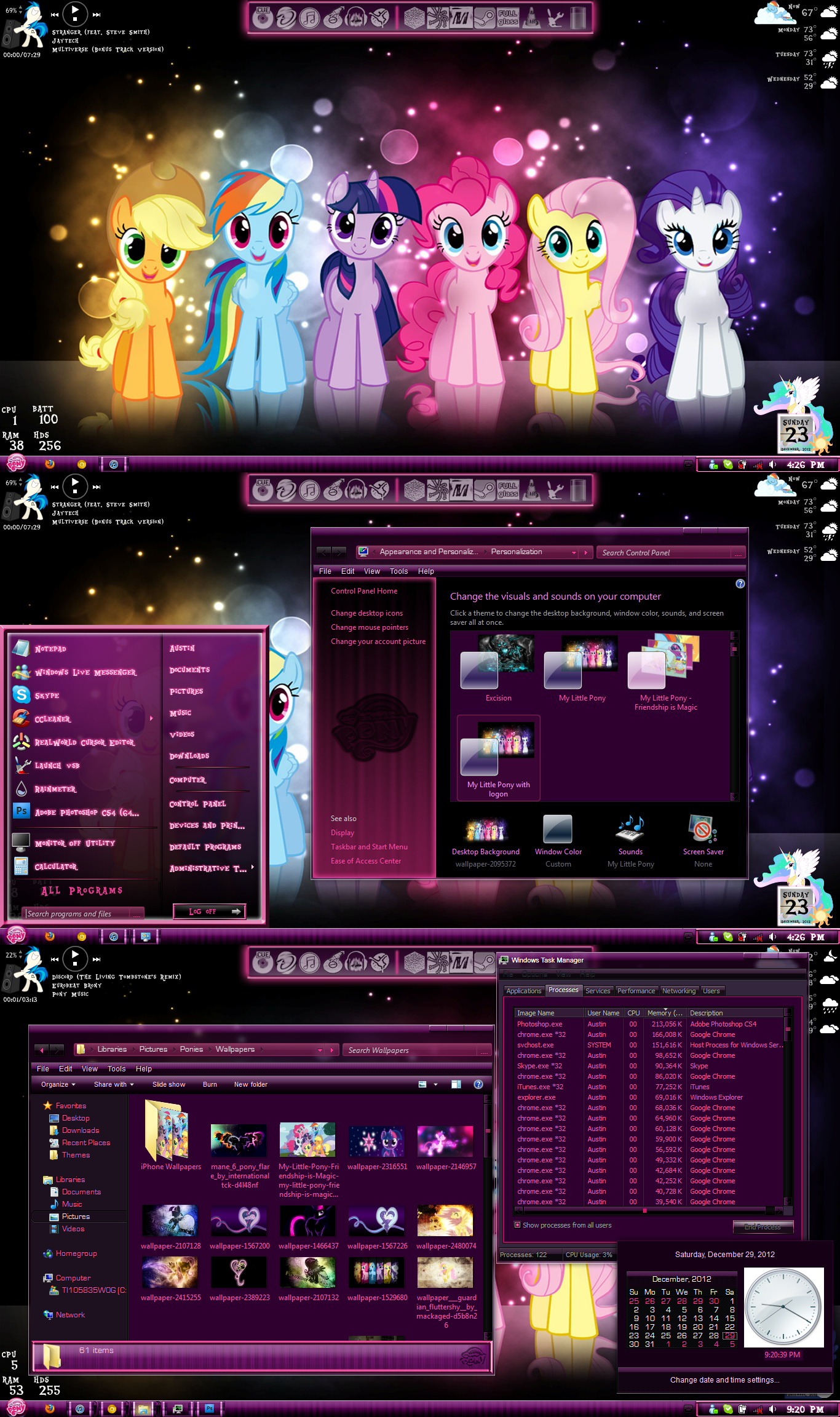 My Little Pony Theme (Windows  7) by TheBronified