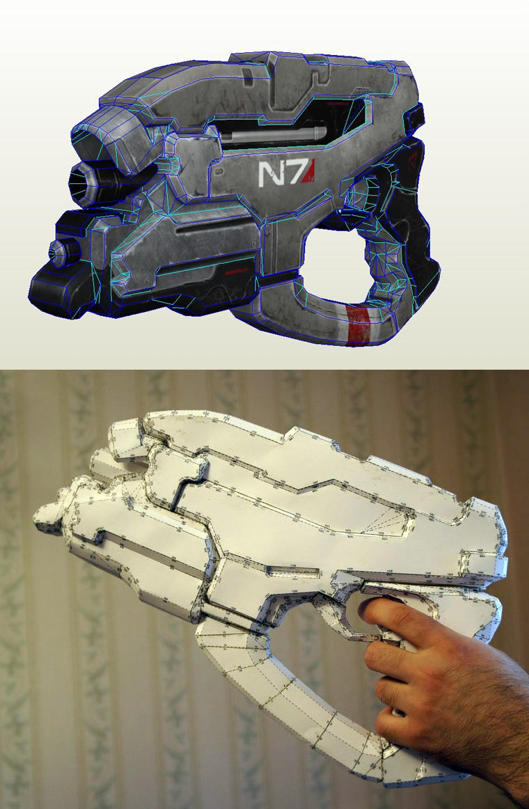 Mass Effect N7 Eagle heavy Pistol papercraft by artbetep