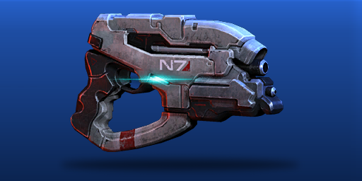 Mass Effect N7 Eagle heavy Pistol papercraft PDF by artbetep