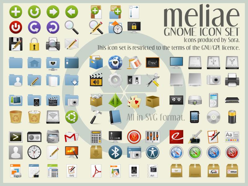 Meliae SVG Icon Theme v. 1.2