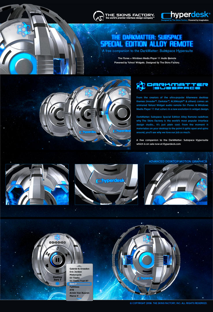windows media player skins / alienware invader