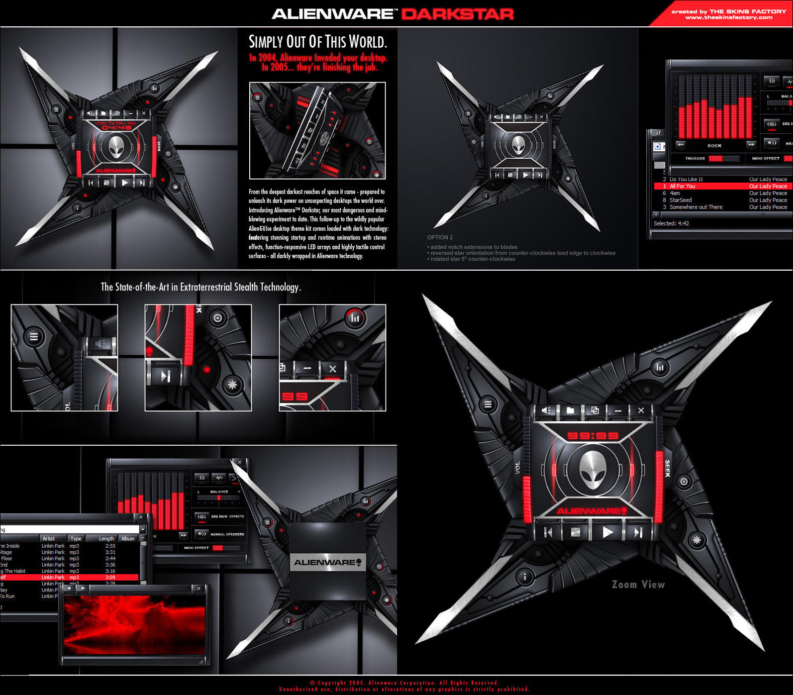 skins para windows media player alienware