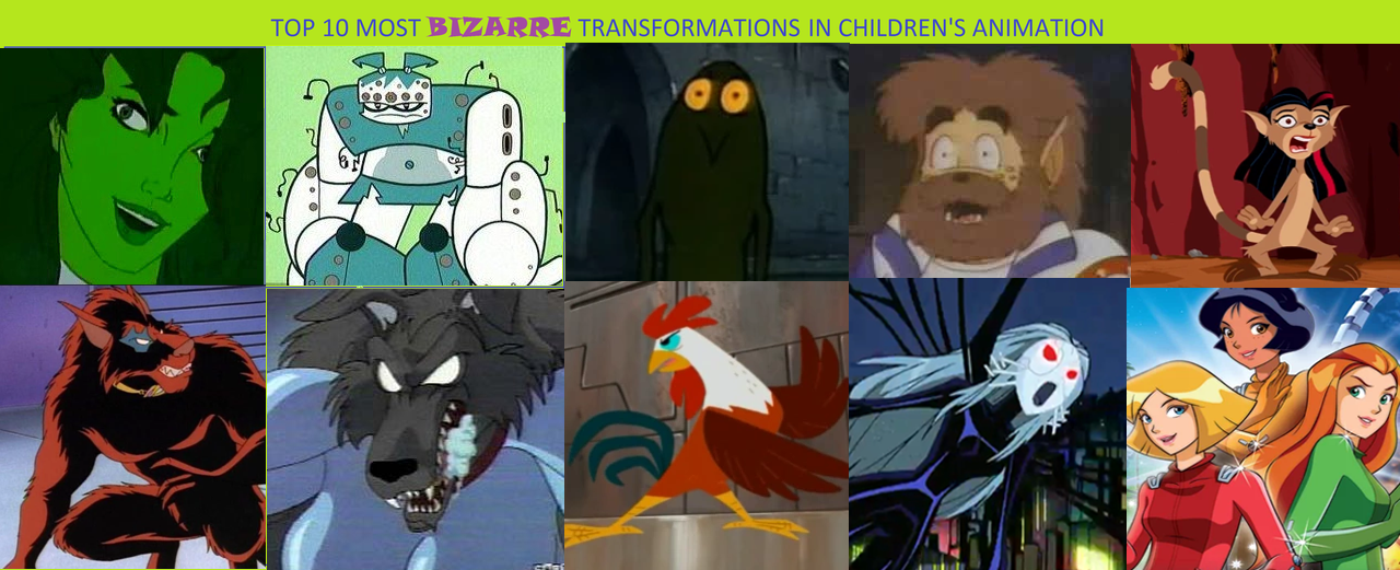 Top Ten Bizarre Transformations in Cartoons Part 3 by Popculture ...