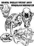 animal skull vector pack