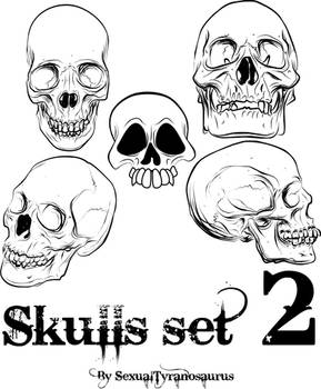 Skull Set 2 by sexualtyranosaurus