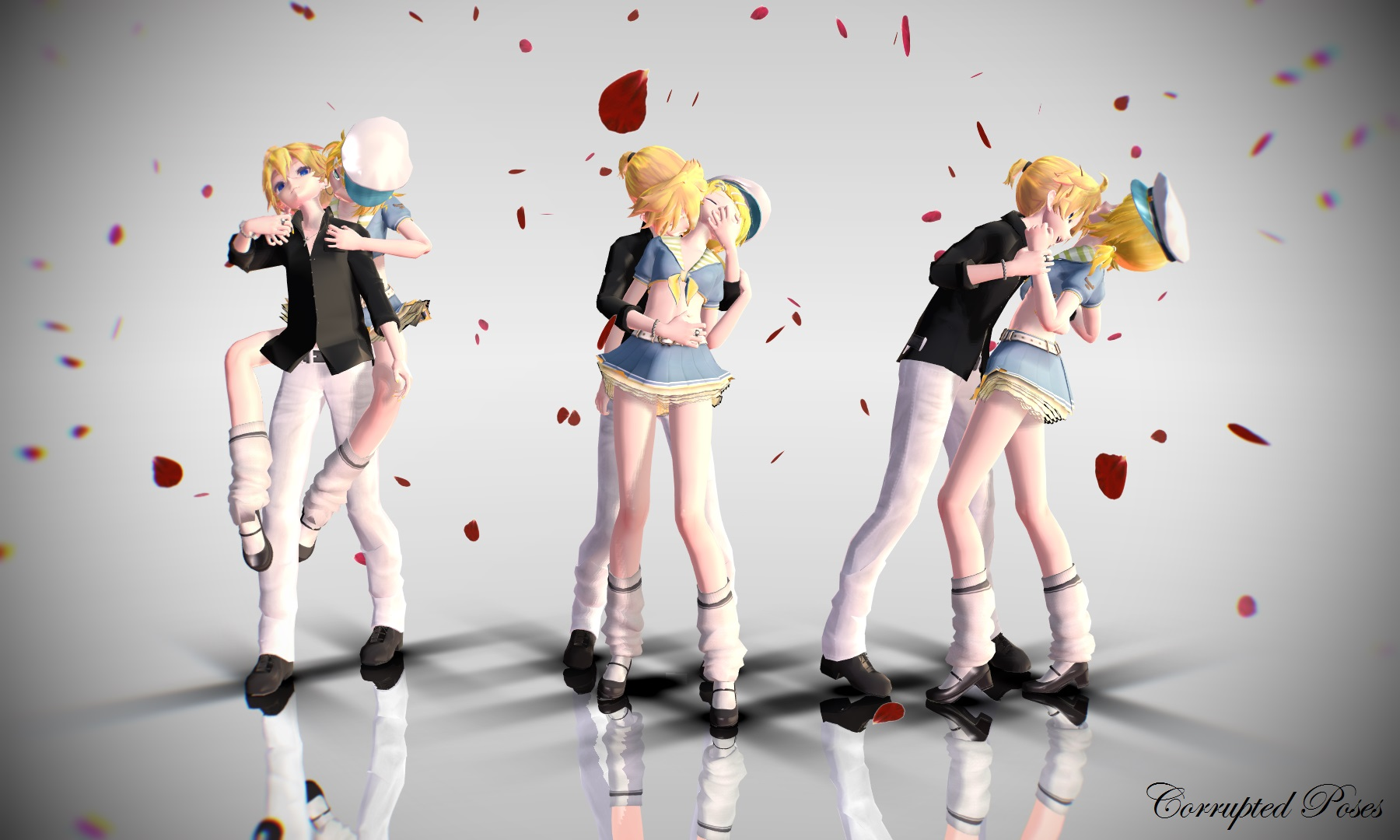 3d mmd rin jumping at shadows 1
