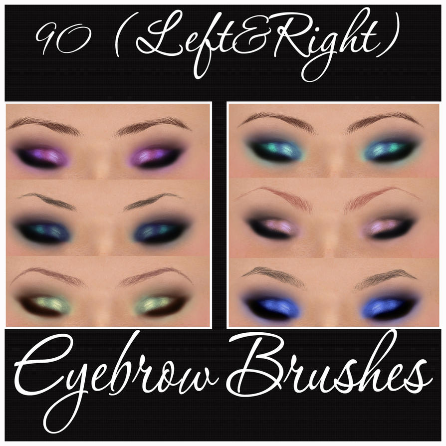 EyeBrow Brushes by Marielena on DeviantArt