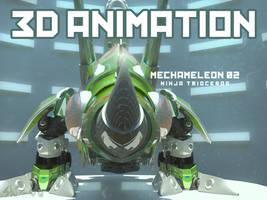 Mechameleon 02 Ninja Trioceros .::Turntable::.