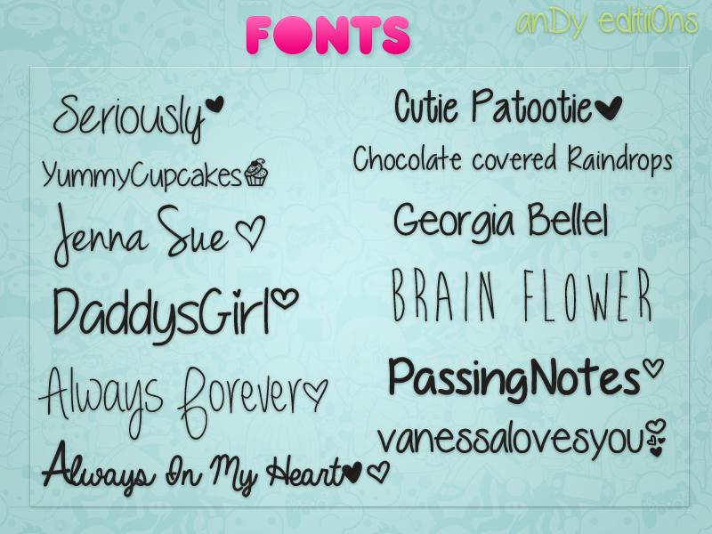 Fonts! by Jonatica-andi