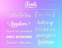 Fonts #5 by Jonatica-andi