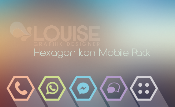 Hexagon Icon Mobile Pack by Lully91