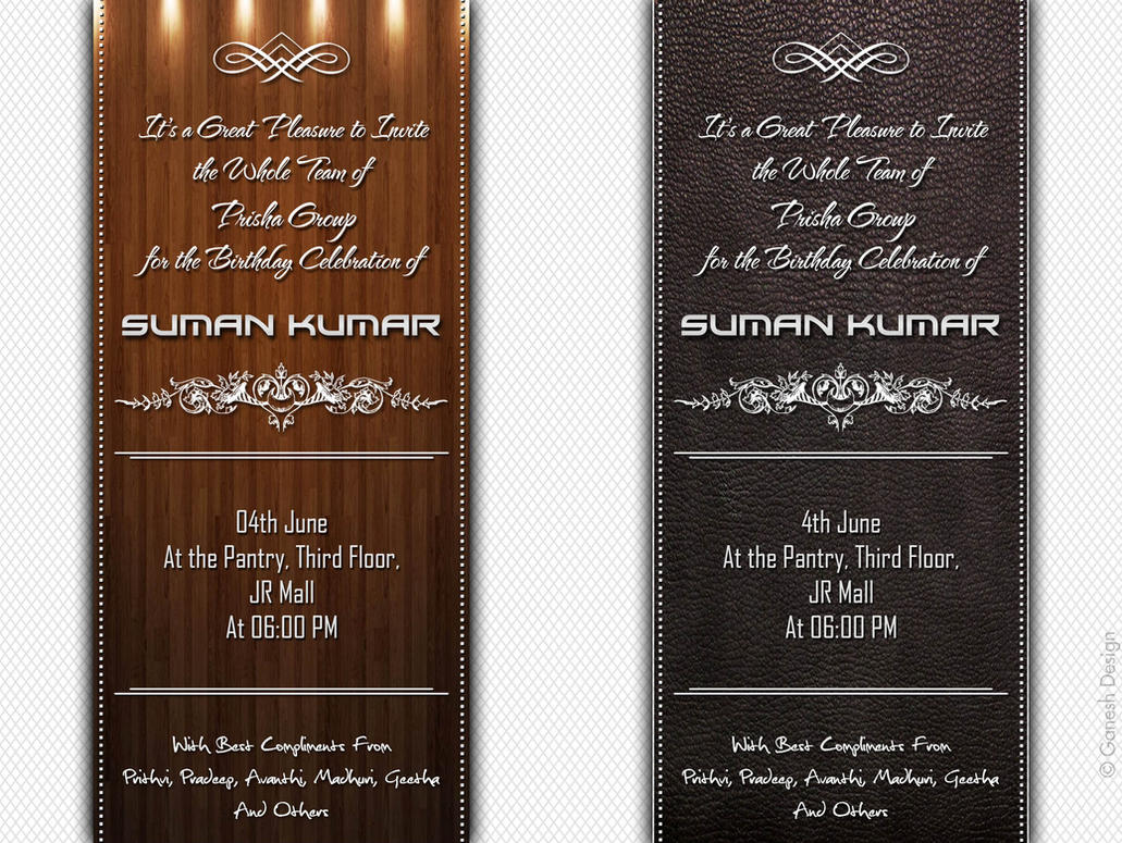 Birthday Invitation Template In PSD - How to make birthday invitation photoshop