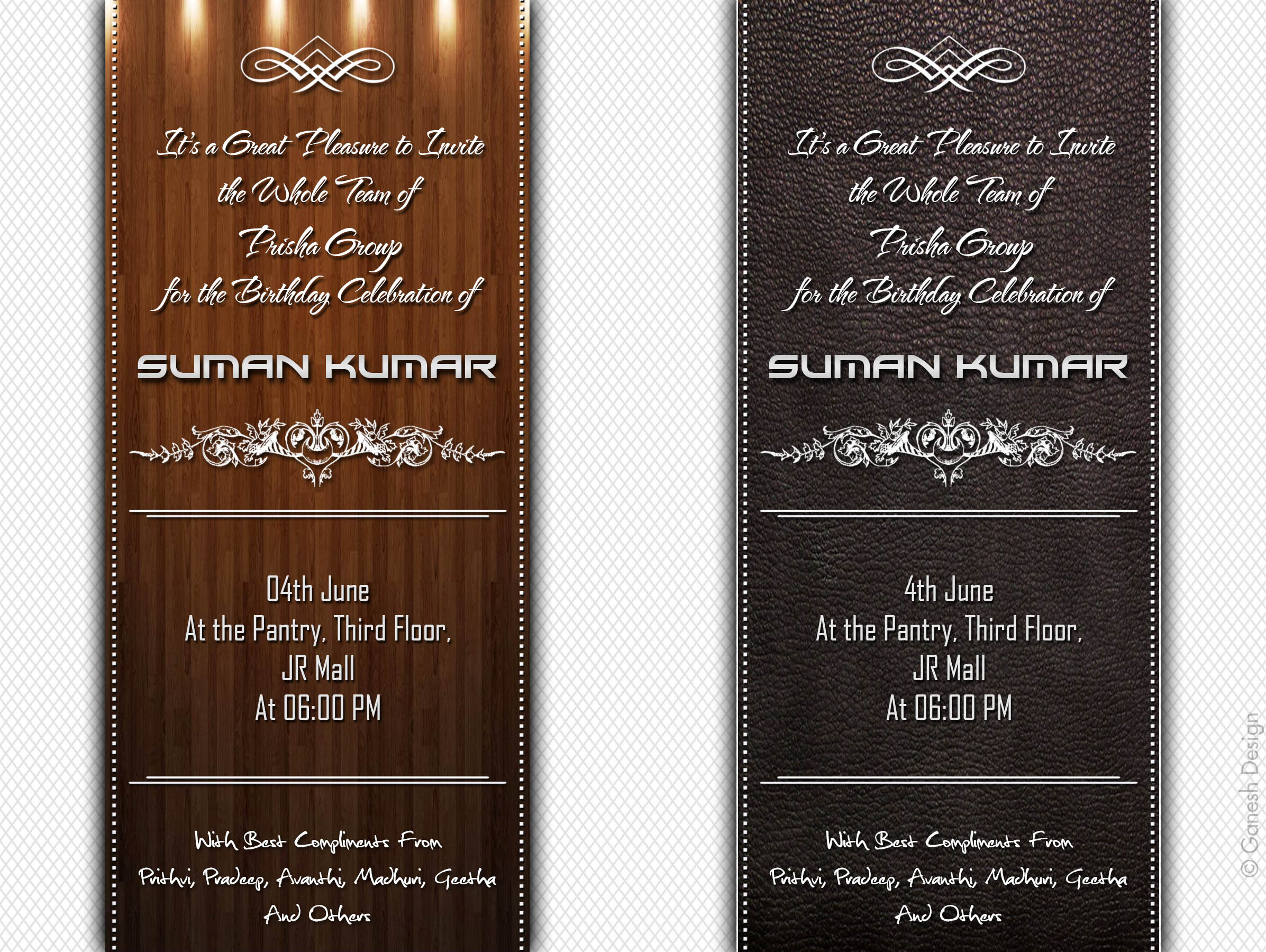 Birthday Party Invitation PSD Template by Ganeshkmr21 on DeviantArt – Office Party Invitation Templates