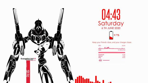 Evangelion Rainmeter Desktop Theme