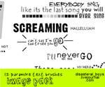 Paramore Text Brushes PShop