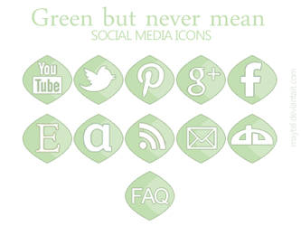 Green but never mean social media icons by maytel