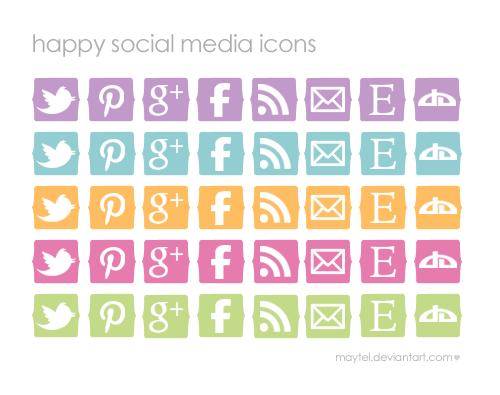 Happy Social Media Icons by maytel