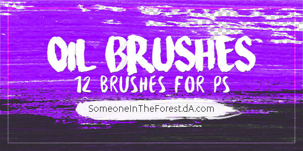 Oil Brushes//Photoshop by SomeoneInTheForest