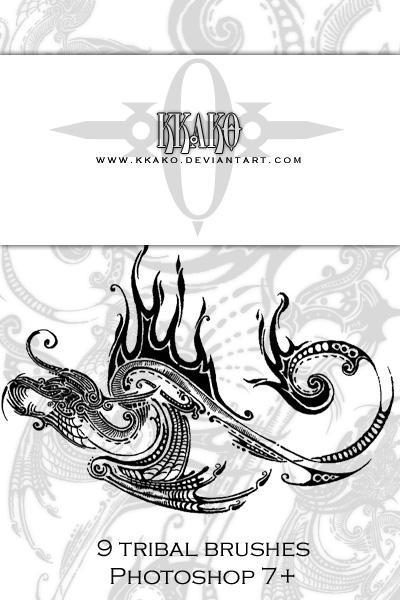 Brushes - Tribal 01 by kkako