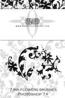 Brushes - Ink flowers 01 by kkako