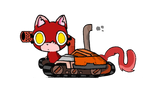 Supersonic Tank Cats - Mittens by ghoulhive