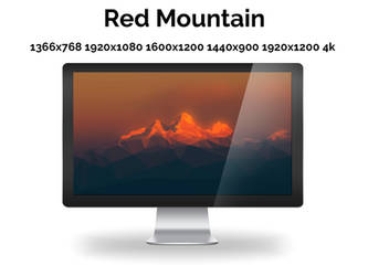 Red Mountains - Wallpaper