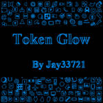 Token Glow Icons - Light Blue