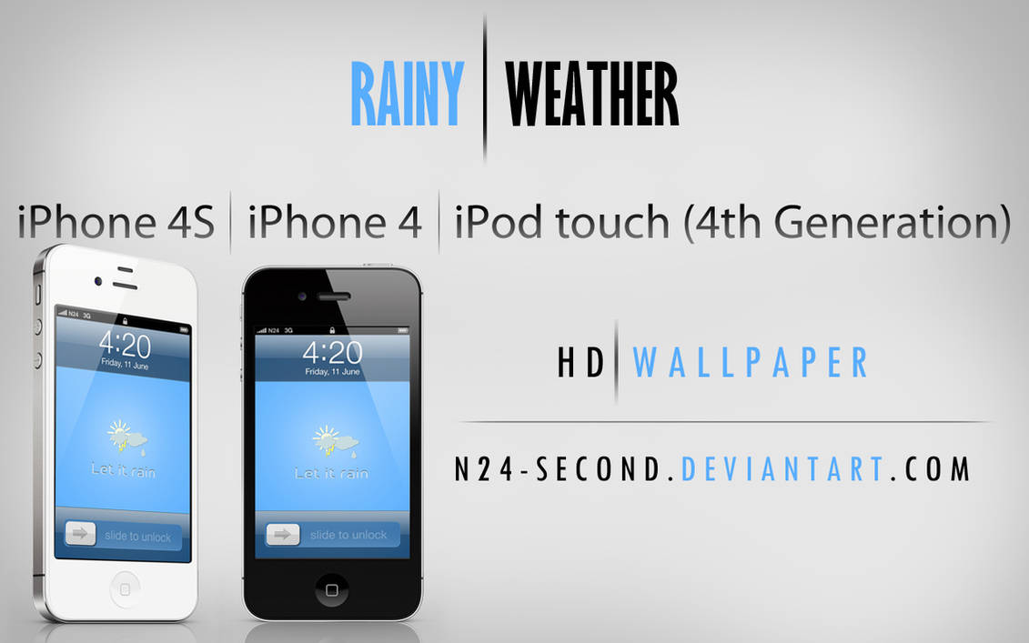 Rainy Weather wallpaper for iPhone 4
