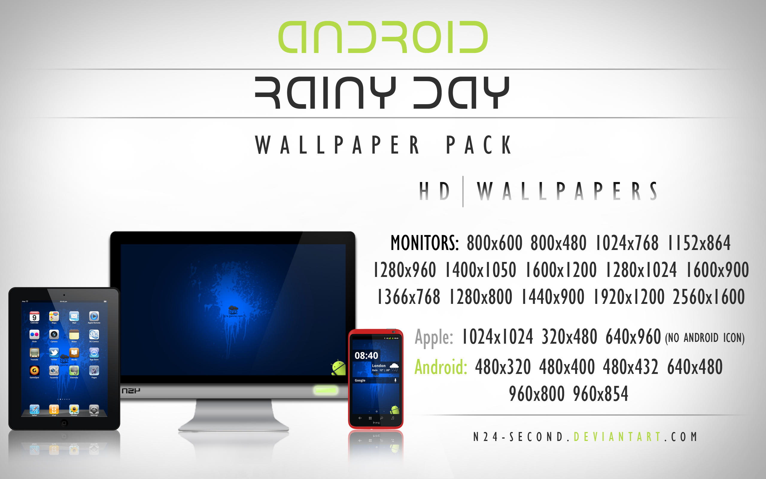 its gonna rain android wallpaper pack by n24 second