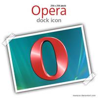 Opera dock icon by Memzee