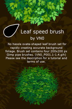Ovate leaf speed brush set