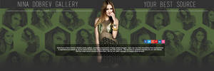 Nina Dobrev Header PSD by oursheartsps