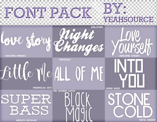 Download Font Pack #6 by oursheartsps on DeviantArt