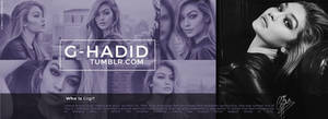 Gigi Hadid Header PSD by oursheartsps