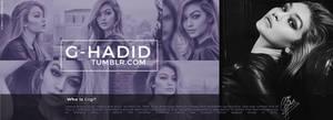 Gigi Hadid Header PSD