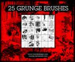 Twenty-Five Grunge PS Brushes