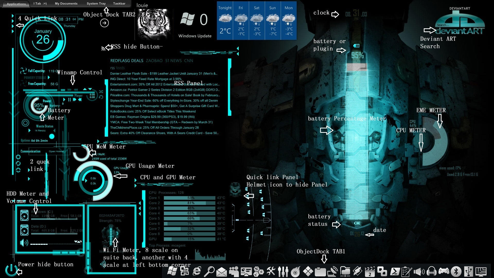 Rainmeter Dead Space Rig Theme V1 Skin Pack By Louiezzz On