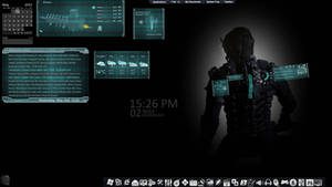 rainmeter-dead space rig armor suite skin v3