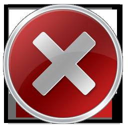 Vista Error Icon .PSD by planetlive