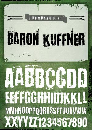 Font 'Baron Kuffner' by bumbayo