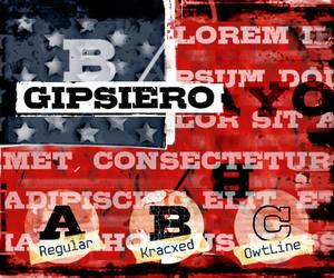 Font family 'Gipsiero' by bumbayo