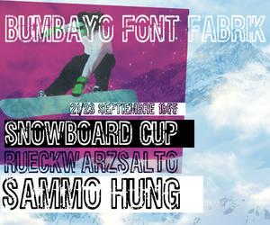Font 'Rueckwarzsalto' by bumbayo